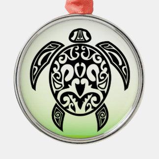VectorPortal-Turtle-Tattoo-Vector.ai Silbernes Ornament