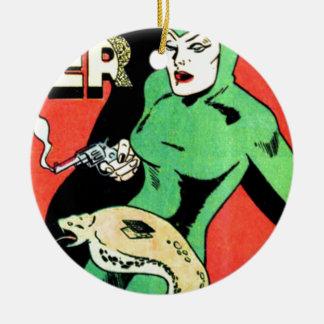 Veda die Kobra-Frau Keramik Ornament