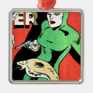 Veda die Kobra-Frau Silbernes Ornament