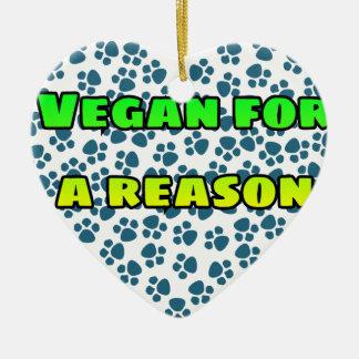 Vegan aus einem Grund Keramik Ornament