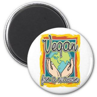 Vegan aus einem Grund Runder Magnet 5,7 Cm