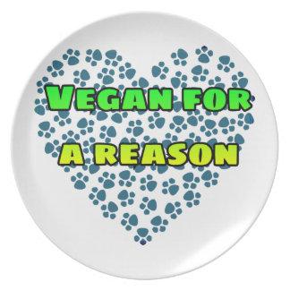 Vegan aus einem Grund Teller