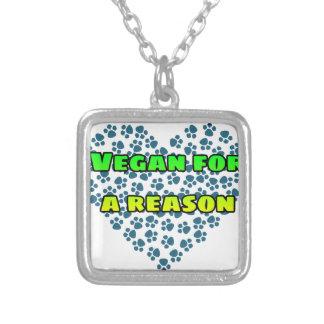 Vegan aus einem Grund Versilberte Kette