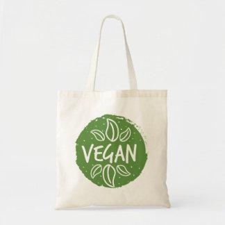 Vegan - dunkelgrün tragetasche