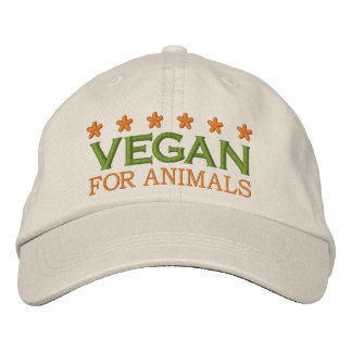 VEGAN FOR ANIMALS -002 BESTICKTE KAPPE