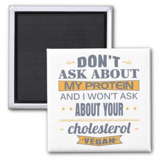 Vegan fragen Sie nicht über mein Protein Quadratischer Magnet