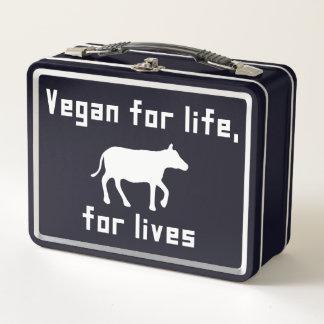 Vegan für das Leben Metall Brotdose