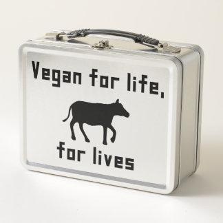 Vegan für das Leben Metall Lunch Box