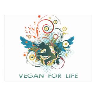 Vegan für das Leben Postkarte