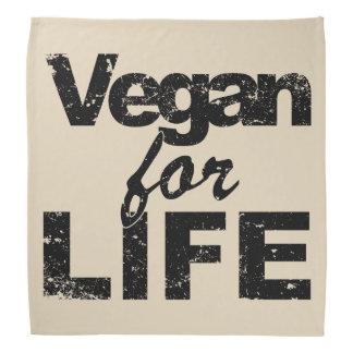 Vegan für das LEBEN (Schwarzes) Halstuch