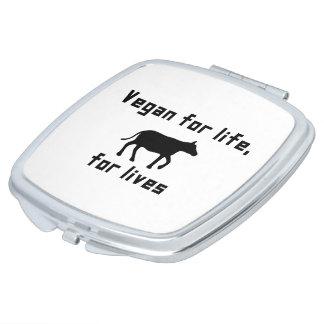Vegan für das Leben Taschenspiegel