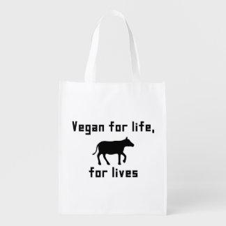 Vegan für das Leben Wiederverwendbare Einkaufstasche