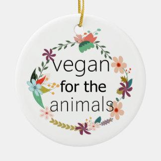 Vegan für den Tierblumenentwurf Keramik Ornament