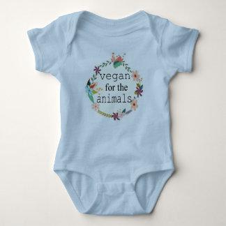 Vegan für die Tierblumenentwurfsweste Baby Strampler
