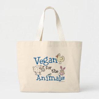 Vegan für die Tiere Jumbo Stoffbeutel