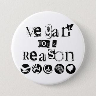 Vegan für ein Grund-Abzeichen Runder Button 7,6 Cm