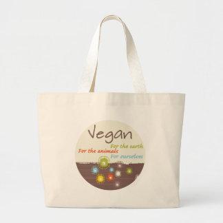 Vegan. Für Erde für Tiere, für uns selbst Jumbo Stoffbeutel