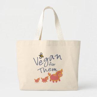 Vegan für Tiere Jumbo Stoffbeutel