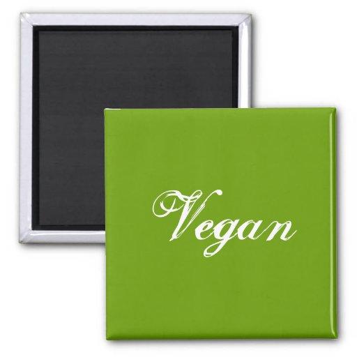 Vegan. Grün. Slogan. Gewohnheit Kühlschrankmagnete