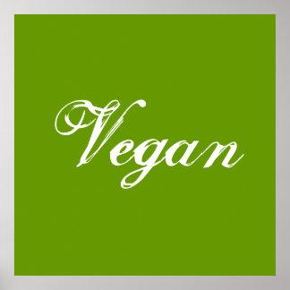 Vegan. Grün. Slogan. Gewohnheit Plakate