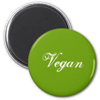 Vegan. Grün. Slogan. Gewohnheit Runder Magnet 5,7 Cm