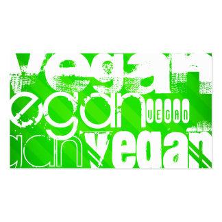 Vegan; Grüne Neonstreifen Visitenkarten