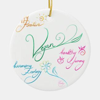 Vegan & happy lifestyle keramik ornament