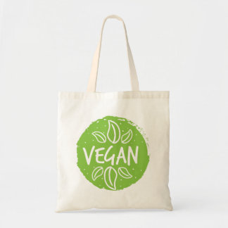 Vegan - hellgrün tragetasche