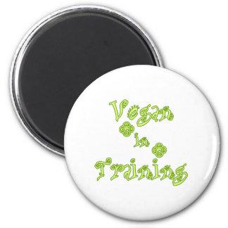 Vegan im Training Runder Magnet 5,7 Cm