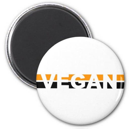 Vegan in Halloween-Streifen Kühlschrankmagnet