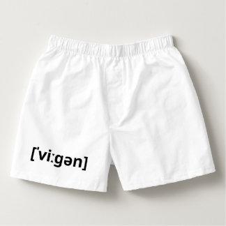 Vegan (IPA) Herren-Boxershorts