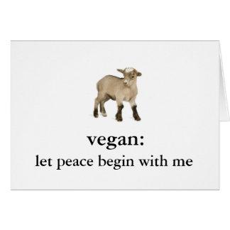 vegan: lassen Sie Frieden mit mir (Babyziege) Karte