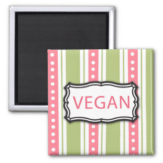 Vegan Quadratischer Magnet