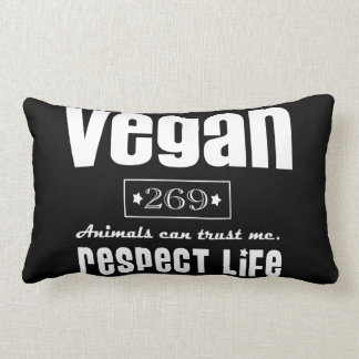 VEGAN - RESPECT LIFE - 14K ZIERKISSEN