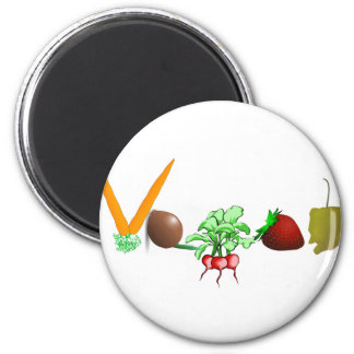 Vegan Runder Magnet 5,1 Cm