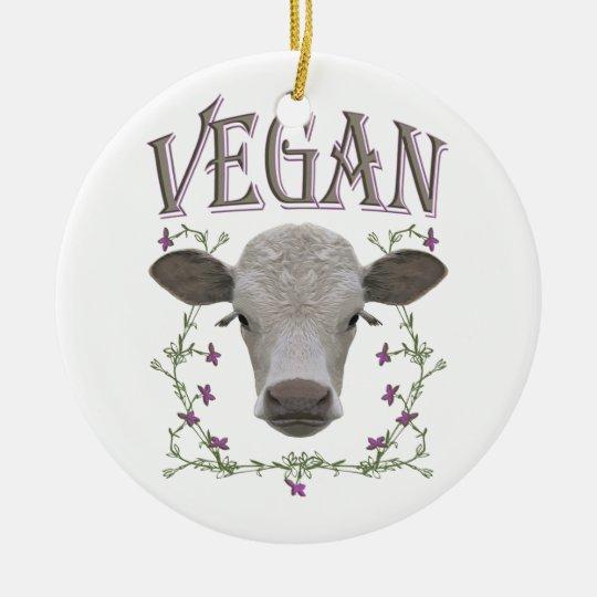 Vegan - Tiere wollen leben Keramik Ornament
