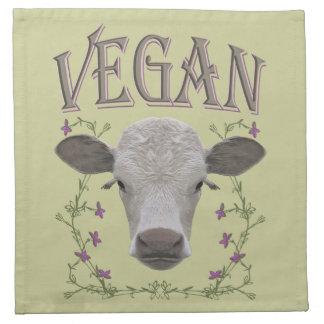 Vegan - Tiere wollen leben Stoffserviette