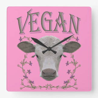 Vegan - Tiere wollen leben Wanduhr