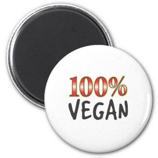 Vegane 100 Prozent Kühlschrankmagnet