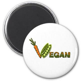 Vegane 2 runder magnet 5,7 cm