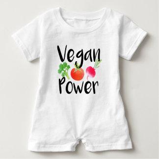 """Vegane Baby-Power "" Baby Strampler"
