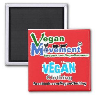 Vegane Bewegung/vegane Kleidung Quadratischer Magnet