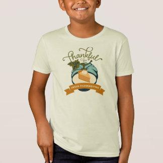 Vegane Erntedank-Kürbis-Torte - Kinder Bio T-Shirt