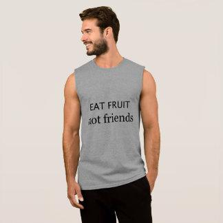 """Vegane """"essen Sie Freund"""" Spitze der Frucht nicht Ärmelloses Shirt"""
