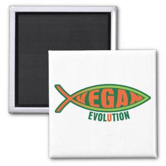 Vegane Evolution Kühlschrankmagnete