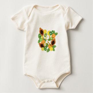 Vegane Frucht Baby Strampler