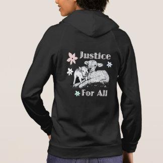 Vegane Gerechtigkeit für allen Hoodie