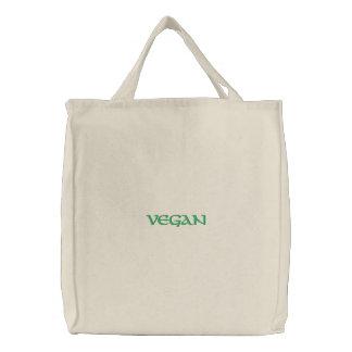 Vegane Gewohnheit gestickte Tasche