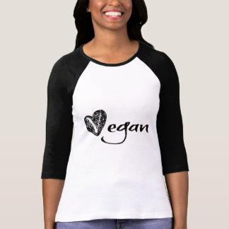 Vegane Herz-Skizze T-Shirt