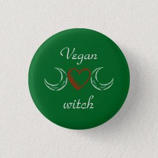 Vegane Hexe Runder Button 2,5 Cm